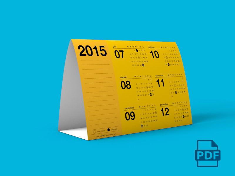 Image - PDF Tent Calendar 2015