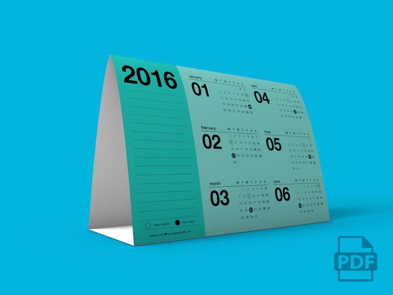 Image - Tent Calendar 2016