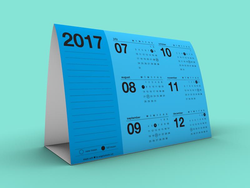 Image - Tent Calendar 2017