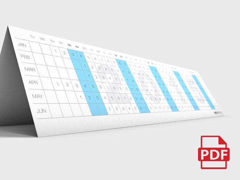 Image - PDF Linear Calendar 2015
