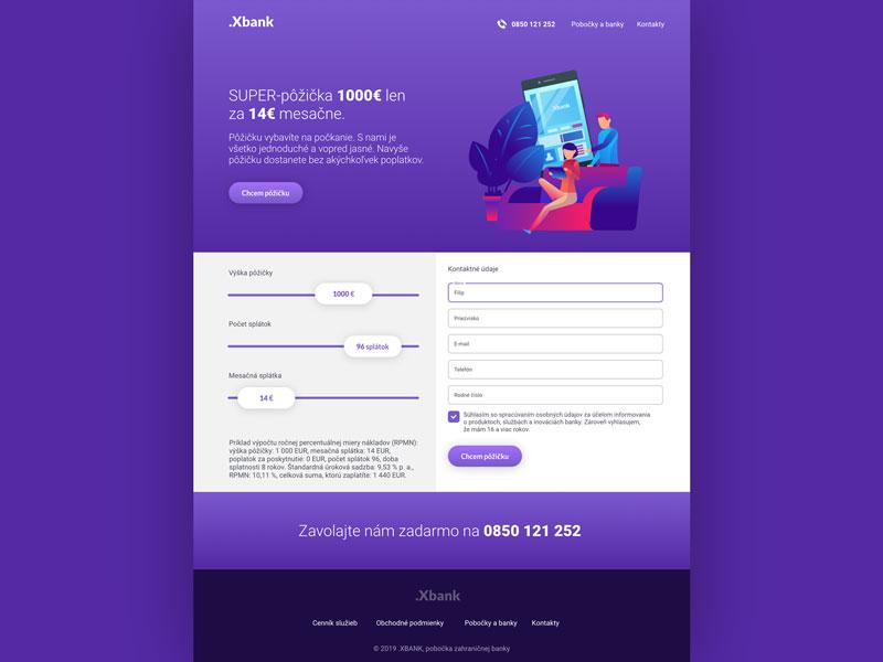 Image - Xbank - Landing Page Design